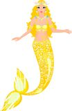 Mermaid. Beautiful mermaid with golden scales Royalty Free Stock Image