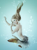 Mermaid beautiful magic underwater mythology being original phot Stock Photos