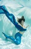 Mermaid in Blue Royalty Free Stock Photos