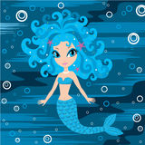 Mermaid cartoon Royalty Free Stock Image
