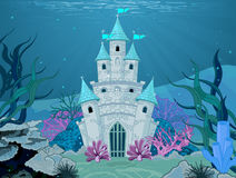 Mermaid Castle. Magic Fairy Tale Mermaid Princess Castle Stock Images