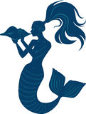 Mermaid with conch Royalty Free Stock Image