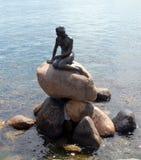 Mermaid in copenhagen. Andersen's mermaid in copenhagen port royalty free stock images