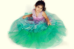 Mermaid costume. Little girl dressed as mermaid for halloween royalty free stock image