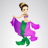 Mermaid With Crown And Cape Royalty Free Stock Photo