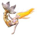 Mermaid. 3D CG rendering of a mermaid Stock Photography
