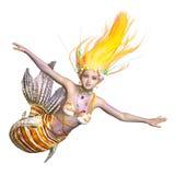 Mermaid. 3D CG rendering of a mermaid royalty free stock photo