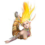 Mermaid. 3D CG rendering of a mermaid royalty free stock photography