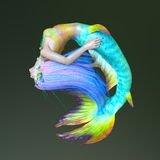 Mermaid. 3D CG rendering of a mermaid Stock Photos