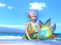 Mermaid. 3D CG rendering of a mermaid stock photos