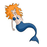Mermaid draw Royalty Free Stock Photography