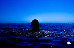 A mermaid emerges from the sea & x28;17& x29; Stock Photography
