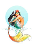 Mermaid fairy-tale character. Illustration on white background Royalty Free Stock Images