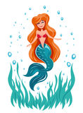 Mermaid fairy tale marine character Stock Photography