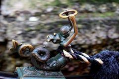 Mermaid figure. On gondola closeup royalty free stock photos