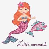 Mermaid and fish Stock Photo