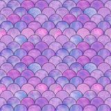 Mermaid fish scale wave japanese seamless pattern