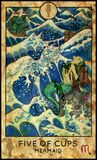 Mermaid. Five Of Cups. Royalty Free Stock Photography