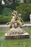 Mermaid fountain at a formal garden Stock Image
