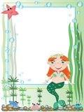 Mermaid,frame Royalty Free Stock Photo