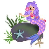 Mermaid girl isolated Stock Images