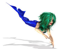 Mermaid with green hair Stock Photos