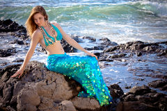 Mermaid in Hawaii Royalty Free Stock Photo