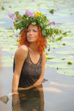 Mermaid i vattnet Royaltyfri Fotografi