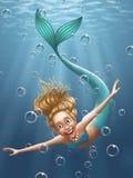 Mermaid. Illustration - Digital painting - Hand drawn Royalty Free Stock Image