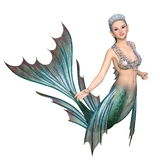 Mermaid. Image of a mermaid. The woman is CG Royalty Free Stock Image