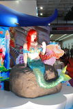 Mermaid in the International high-tech expo Stock Photography