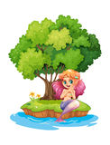 A mermaid in the island Royalty Free Stock Images