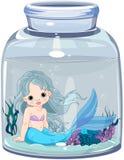 Mermaid in the jar Stock Photo