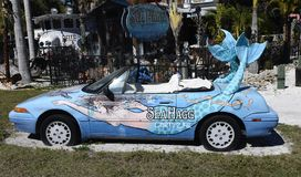Mermaid Mobile. This is a picture of The iconic Mermaid Mobile on exhibit at the Sea Hagg-Nauticals-Antiques-Curiosities located in Cortez, Florida in Manatee royalty free stock photos