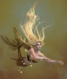 Golden Mermaid Royalty Free Stock Images