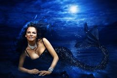 Mermaid. Mythology being mermaid in ocean Stock Images