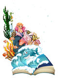 Mermaid and ocean Stock Photography