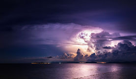 Mermaid Offshore Island Lightning Royalty Free Stock Photography
