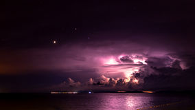 Mermaid Offshore Island Lightning Royalty Free Stock Images
