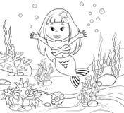 mermaid Onderwater wereld royalty-vrije illustratie