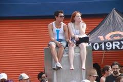 Mermaid Parade spectators Stock Photos