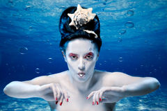 Mermaid with a pearl Royalty Free Stock Image