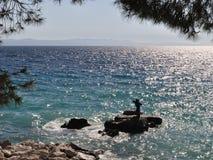 Mermaid in Podgora. Croatia Royalty Free Stock Photos