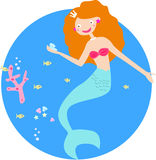 Mermaid princess Stock Image