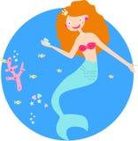 Mermaid princess Stock Image