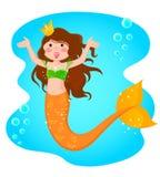 Mermaid princess. Cheerful mermaid princess in the sea royalty free illustration