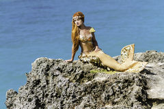 Mermaid on the rock Royalty Free Stock Image