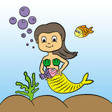 Mermaid's pet Royalty Free Stock Images