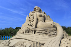 Mermaid sand sculpture Royalty Free Stock Image