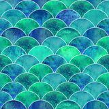 Mermaid scale wave japanese seamless pattern royalty free illustration